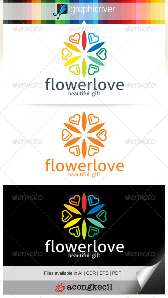 GraphicRiver Flower Love 6700028