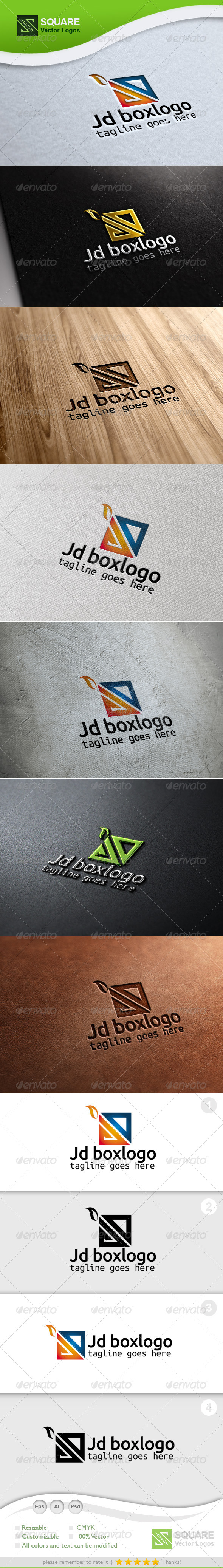 J, D, Box Vector Logo Template - Letters Logo Templates