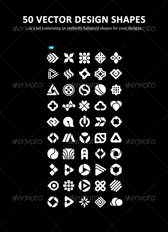 GraphicRiver 50 Vector Design Shapes 6704509