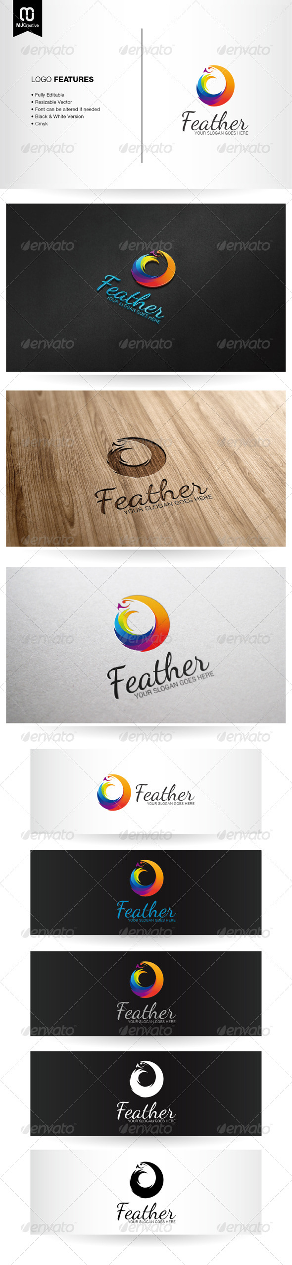 GraphicRiver Abstract Colorful Bird Logo 6704603