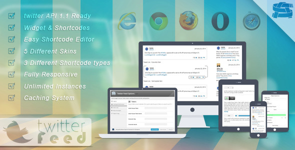 CodeCanyon Twitter Feed Social plugin for WordPress 6665168