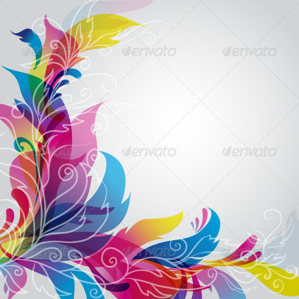GraphicRiver Background with Floral Ornament 6704874