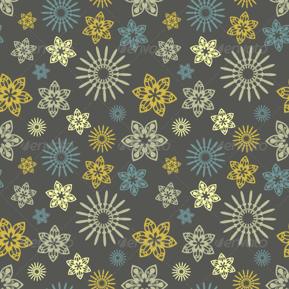 GraphicRiver Seamless Pattern with Floral Ornament 6705037