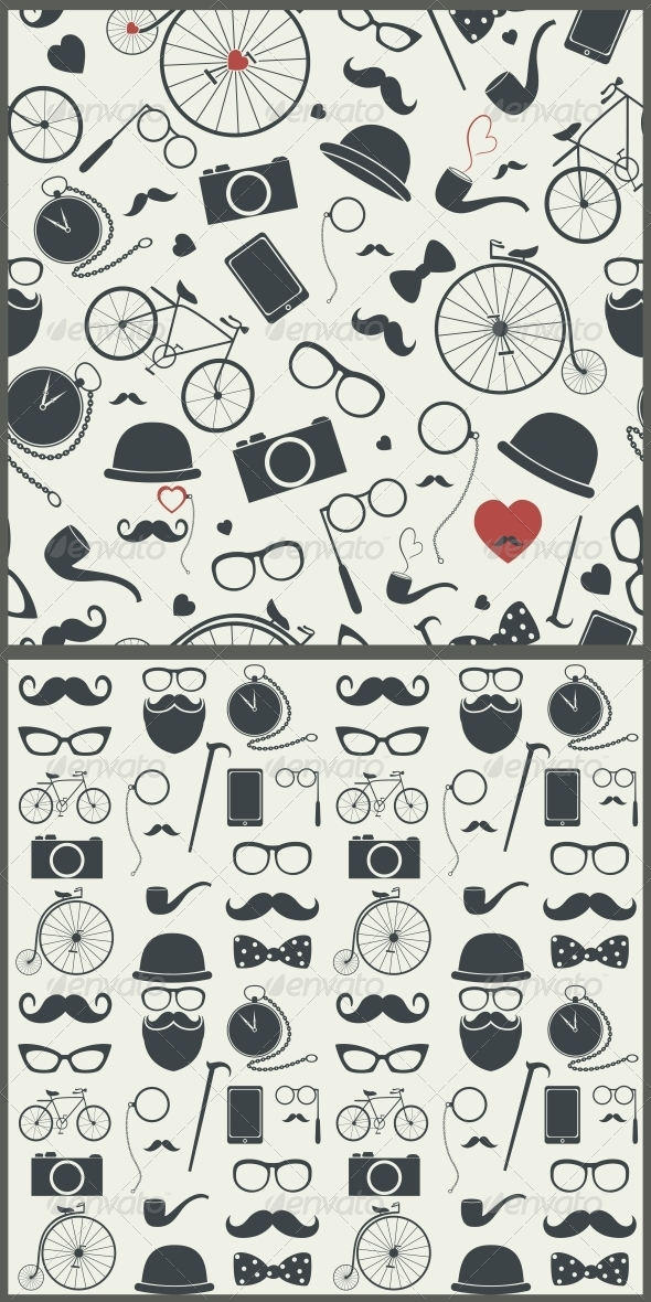 GraphicRiver Hipster Seamless Pattern 6705060
