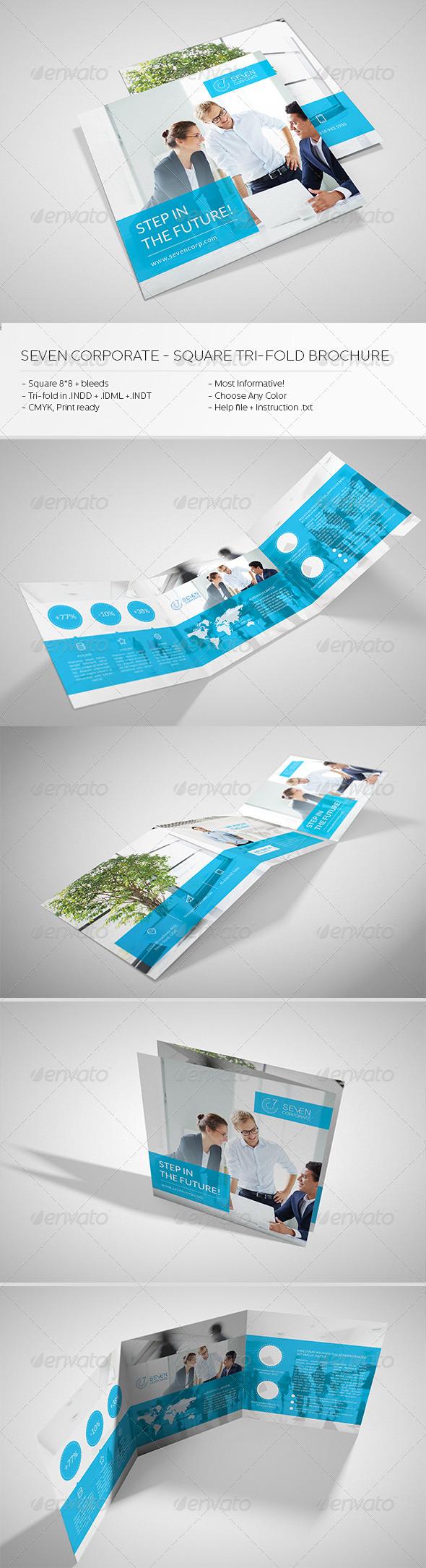 GraphicRiver Square Corporate Tri-fold Brochure 6705158