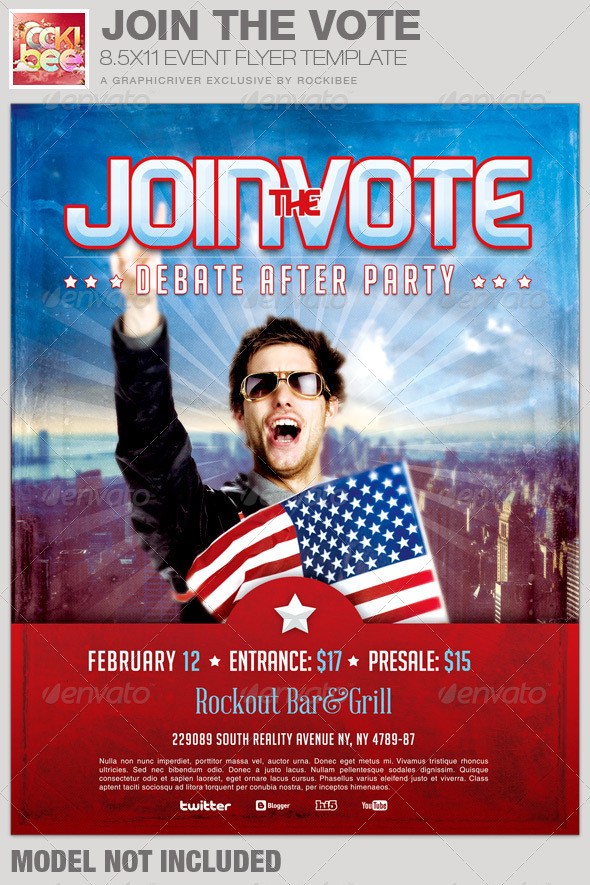 GraphicRiver Join the Vote Event Flyer Template 6705478
