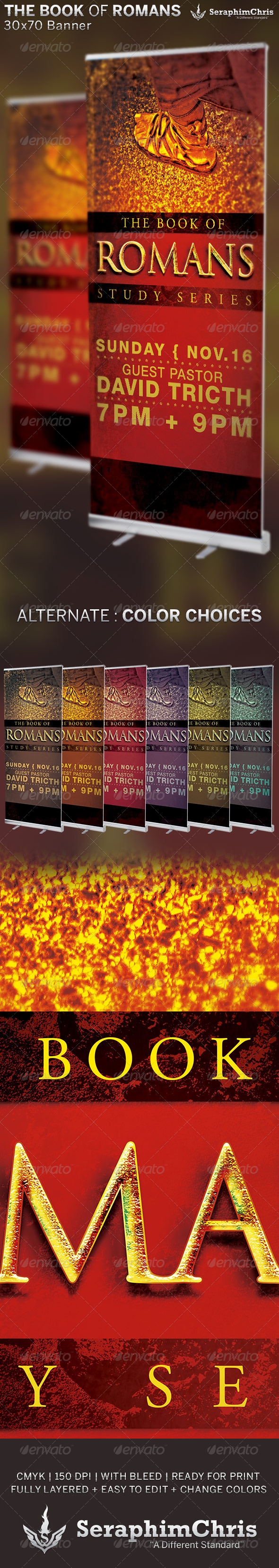 GraphicRiver The Book of Romans Church Banner Template 6705486