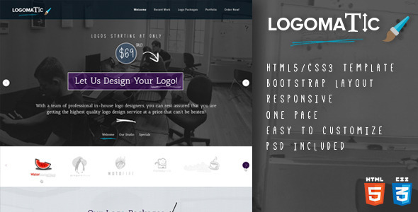 ThemeForest Logomatic One Page HTML Template 6705549