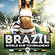 Brazil World Cup Tournament Flyer Template - GraphicRiver Item for Sale