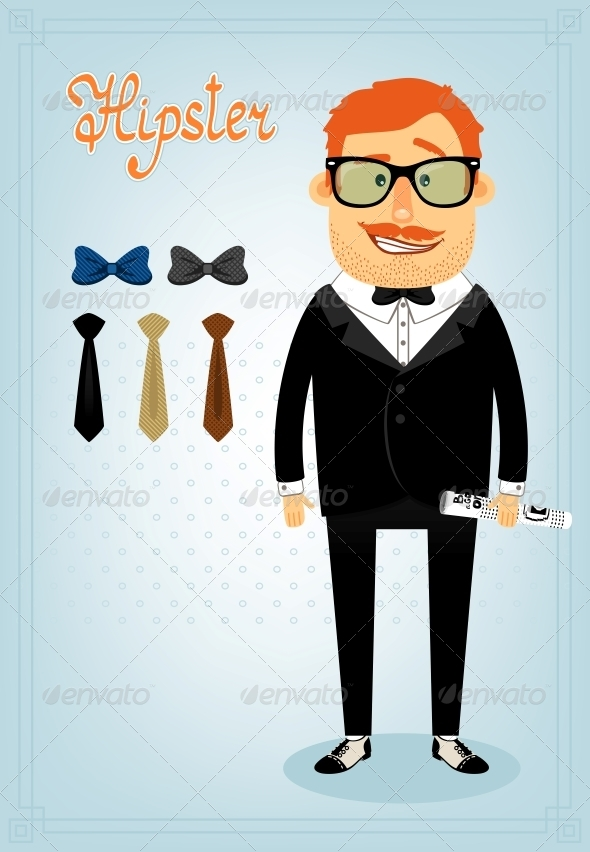 GraphicRiver Hipster Character Pack for Business Man 6705704