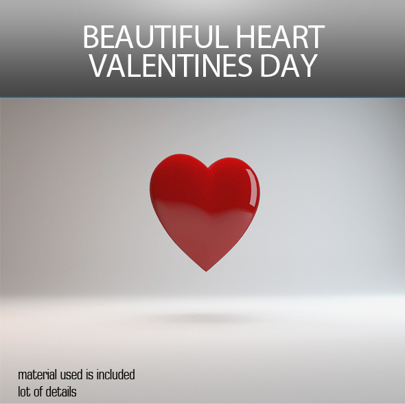 3D BEAUTIFUL HEART VALENTINES DAY  - 3DOcean Item for Sale