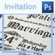 Medieval Style Wedding Invitation - GraphicRiver Item for Sale