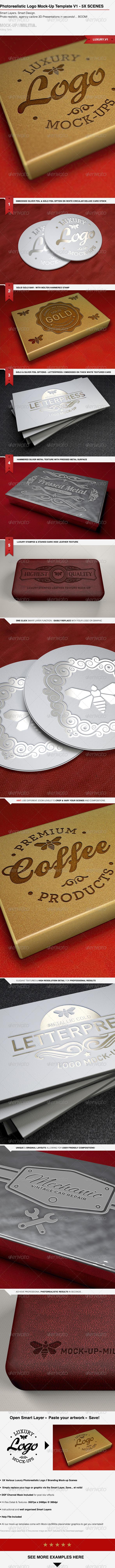 GraphicRiver Photorealistic Logo Mock-Up Product Mock-Up V.1 6706310