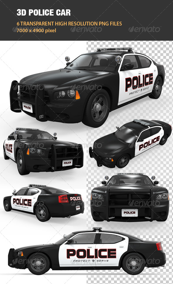 GraphicRiver 3D Police Car 6706417