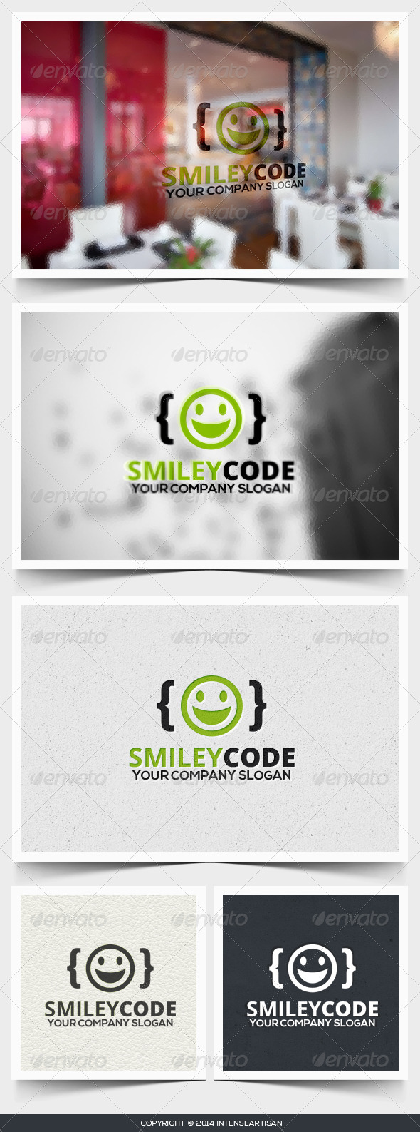 GraphicRiver Smiley Code Logo Template 6706423