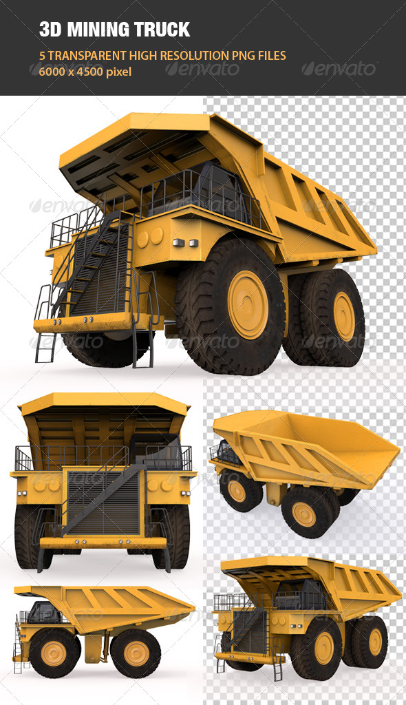 GraphicRiver 3D Mining Truck 6706606