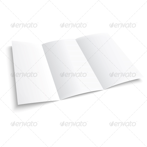 GraphicRiver Blank Trifold Paper Brochure 6706791