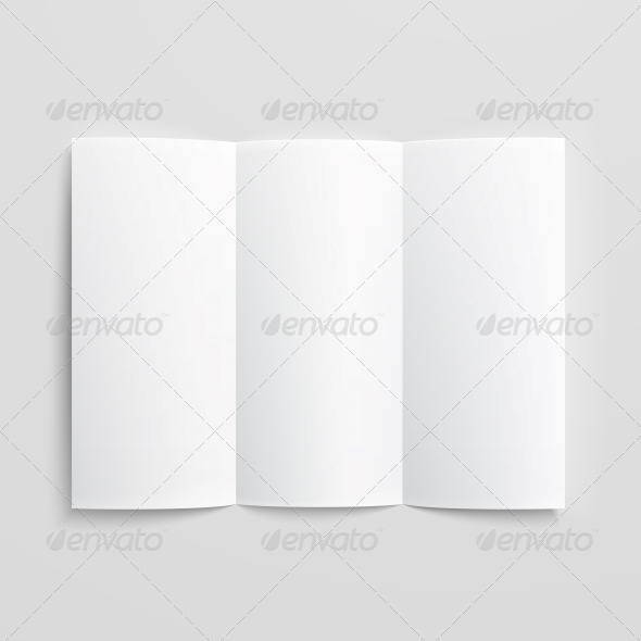 GraphicRiver Blank Trifold Paper Brochure 6706792