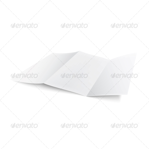 GraphicRiver Blank Trifold Paper Brochure 6706793
