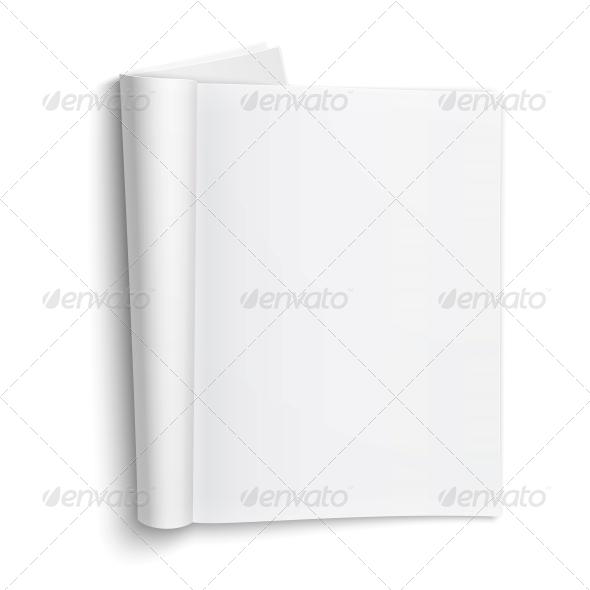 GraphicRiver Blank Open Magazine Template 6706794