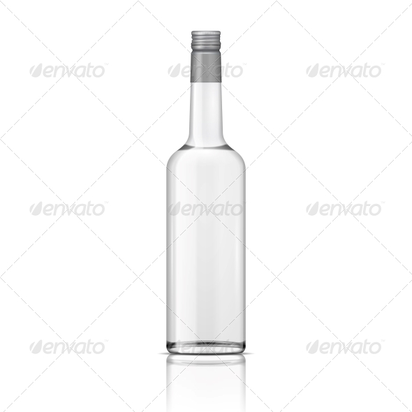 GraphicRiver Glass Vodka Bottle with Screw Cap 6706795