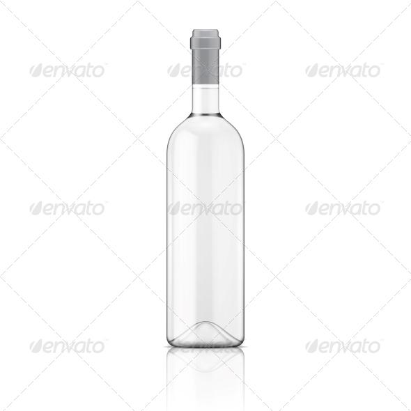 GraphicRiver Transparent Wine Bottle 6706799