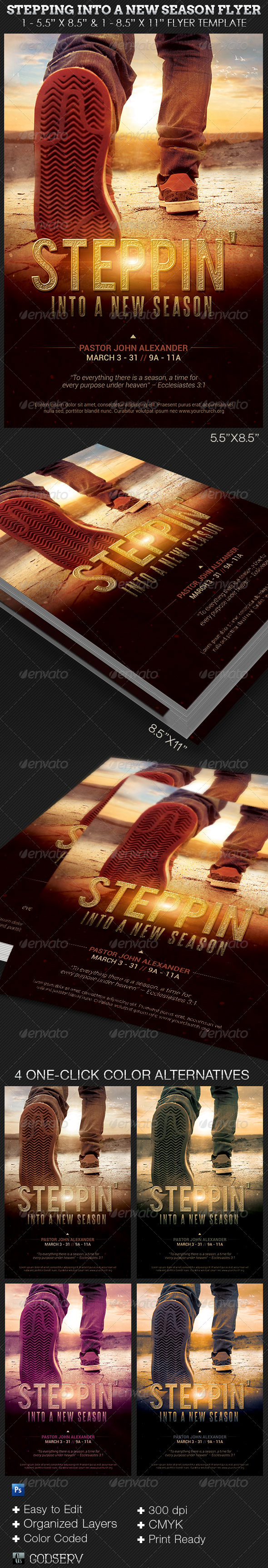 GraphicRiver Stepping Into a New Season Church Flyer Template 6706812
