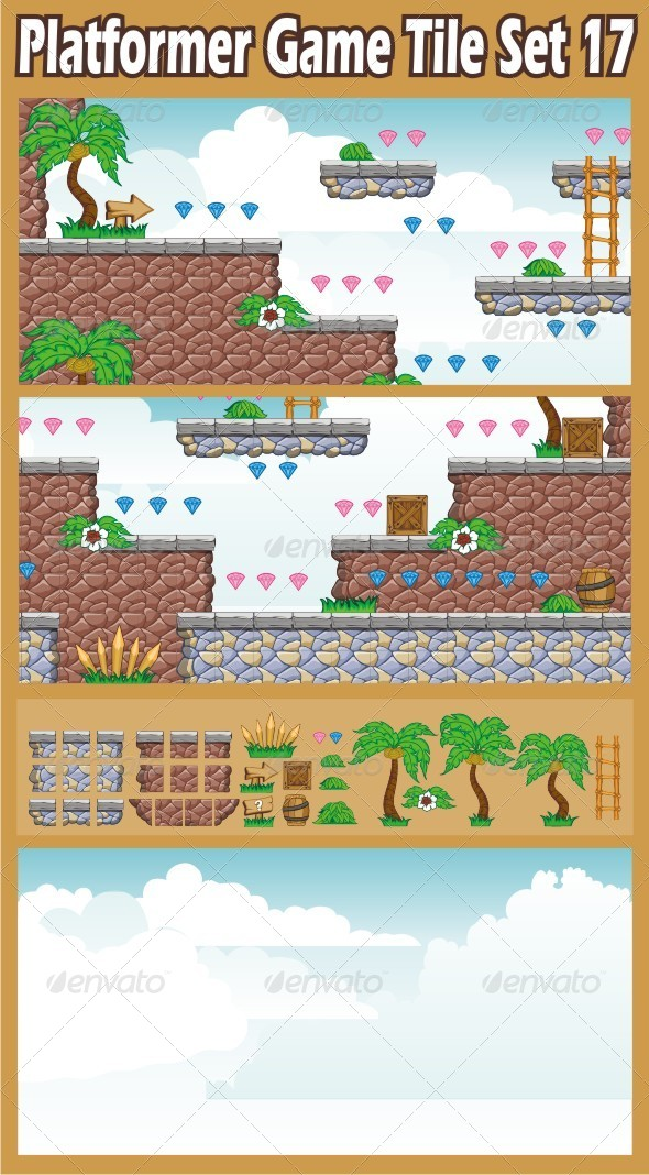 GraphicRiver Platformer Game Tile Set 17 6707029