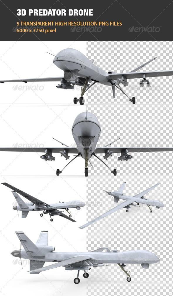 GraphicRiver 3D Predator Drone 6707438