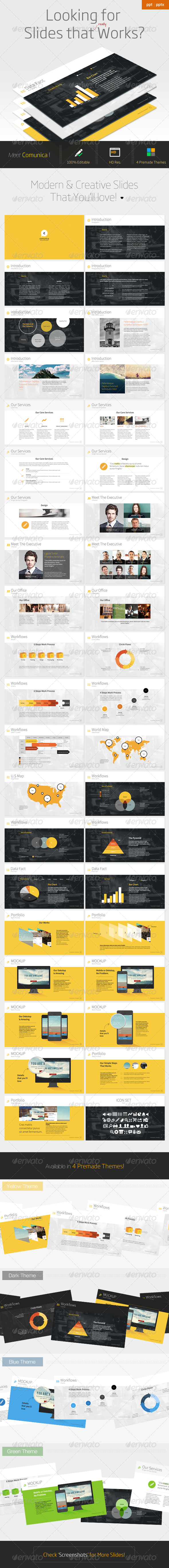 GraphicRiver Comunica Modern Powerpoint Template 6708077
