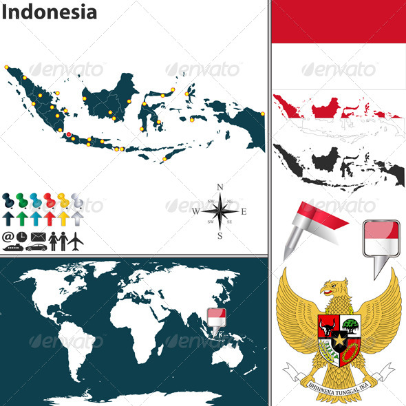 GraphicRiver Map of Indonesia 6708383