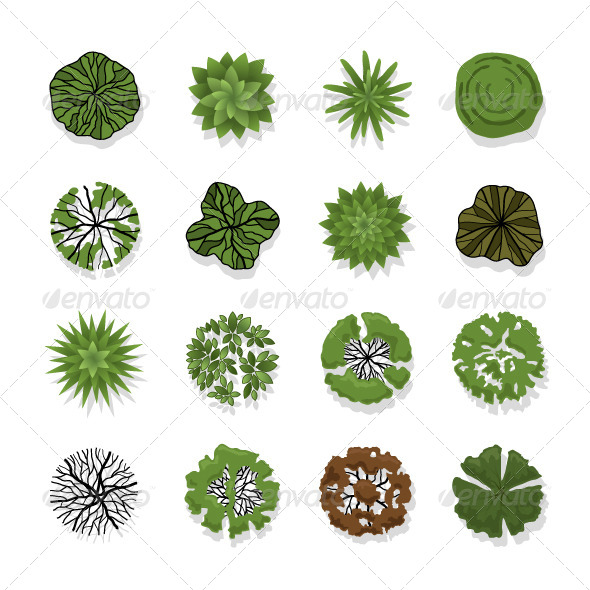 GraphicRiver Trees Top View for Landscape 6708391