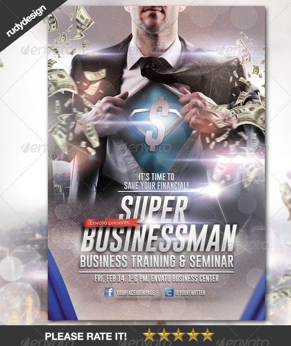 GraphicRiver Super Businessman Professional Seminar Training 6708564