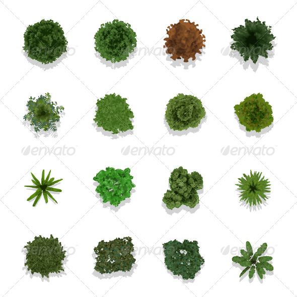 GraphicRiver Trees Top View for Landscape 6708608
