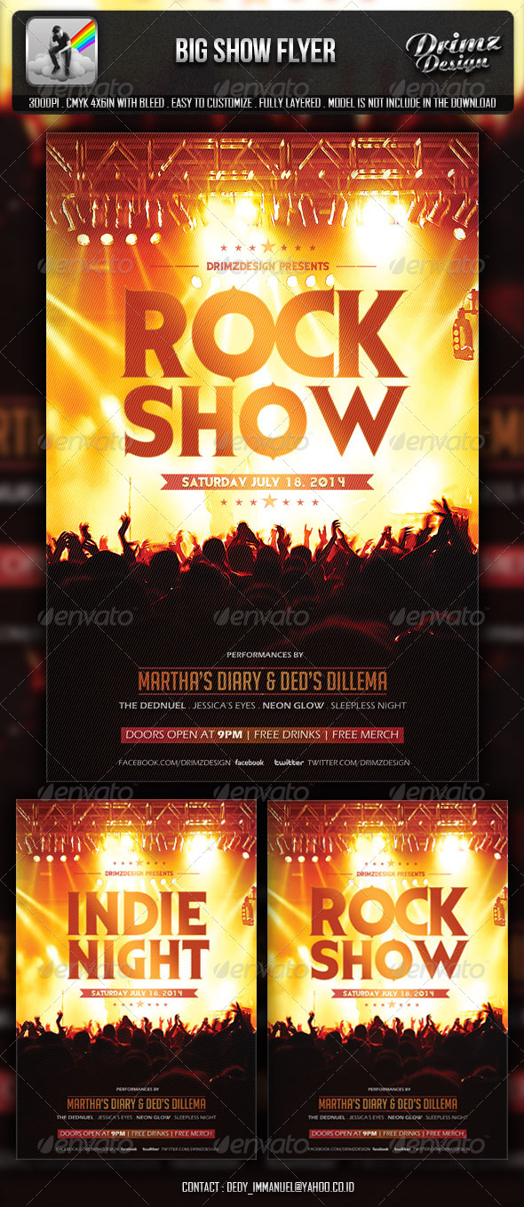 GraphicRiver Big Show Flyer 6708714