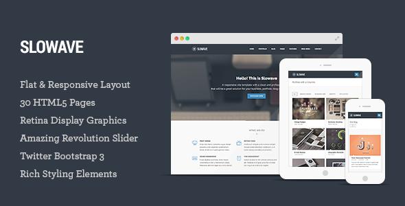 ThemeForest Slowave Multipurpose Responsive HTML5 Template 6679802