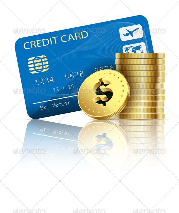 GraphicRiver Credit Card and Coins 6708828
