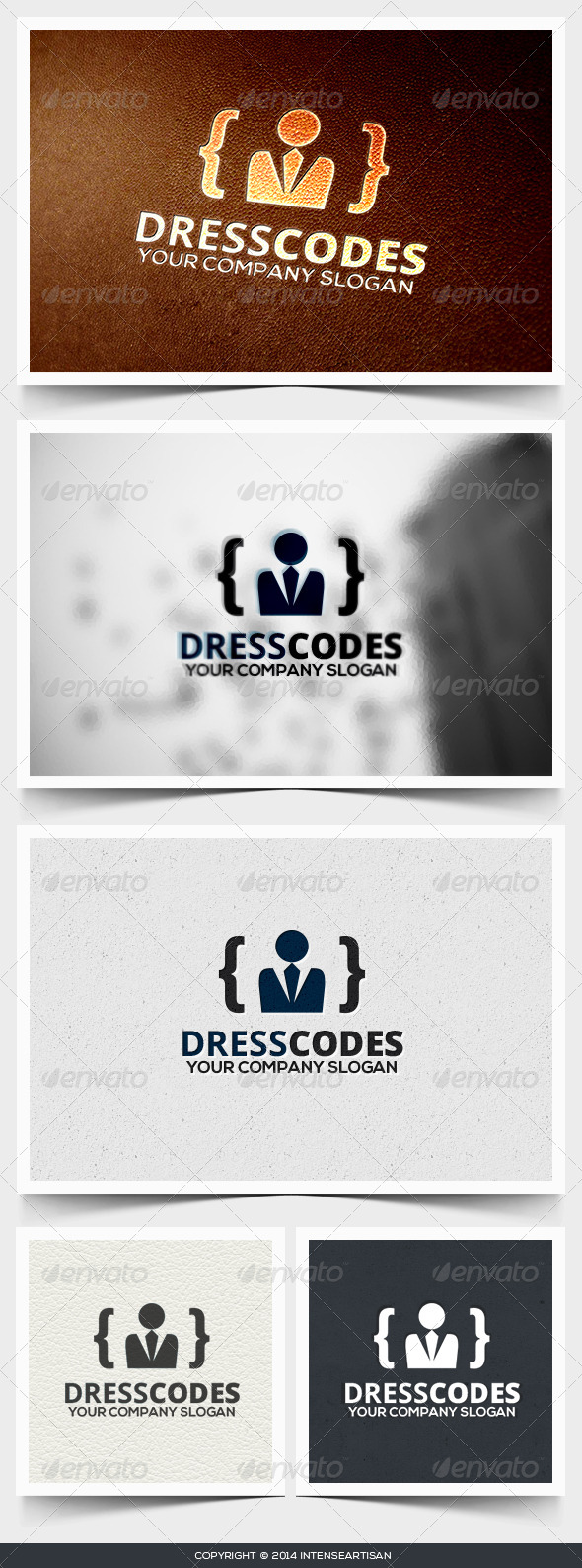 GraphicRiver Dress Code Logo Template 6708848
