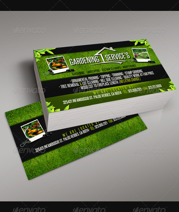 GraphicRiver Gardening Business Card 5 6708892