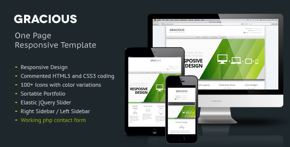 Gracious - Ajaxified HTML Template