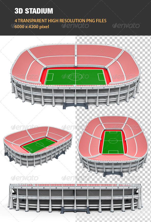 GraphicRiver 3D Stadium Building 6708949
