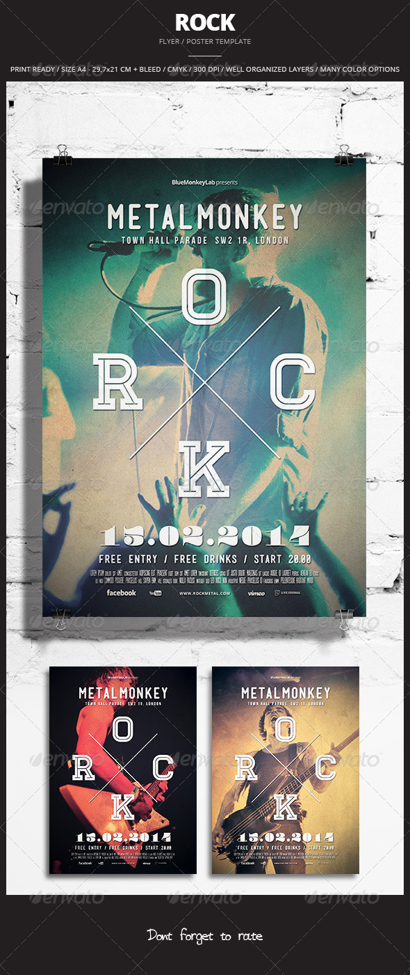 GraphicRiver Rock Flyer Poster 8 6709151