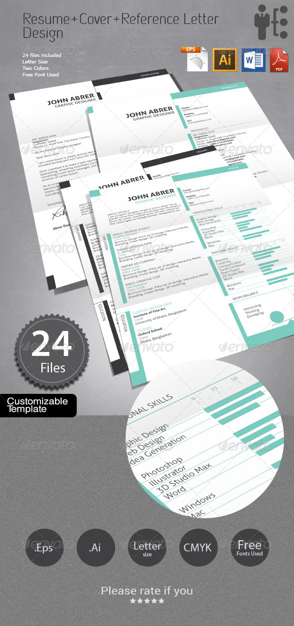GraphicRiver Resume&Cover Letter&References Design 6699725