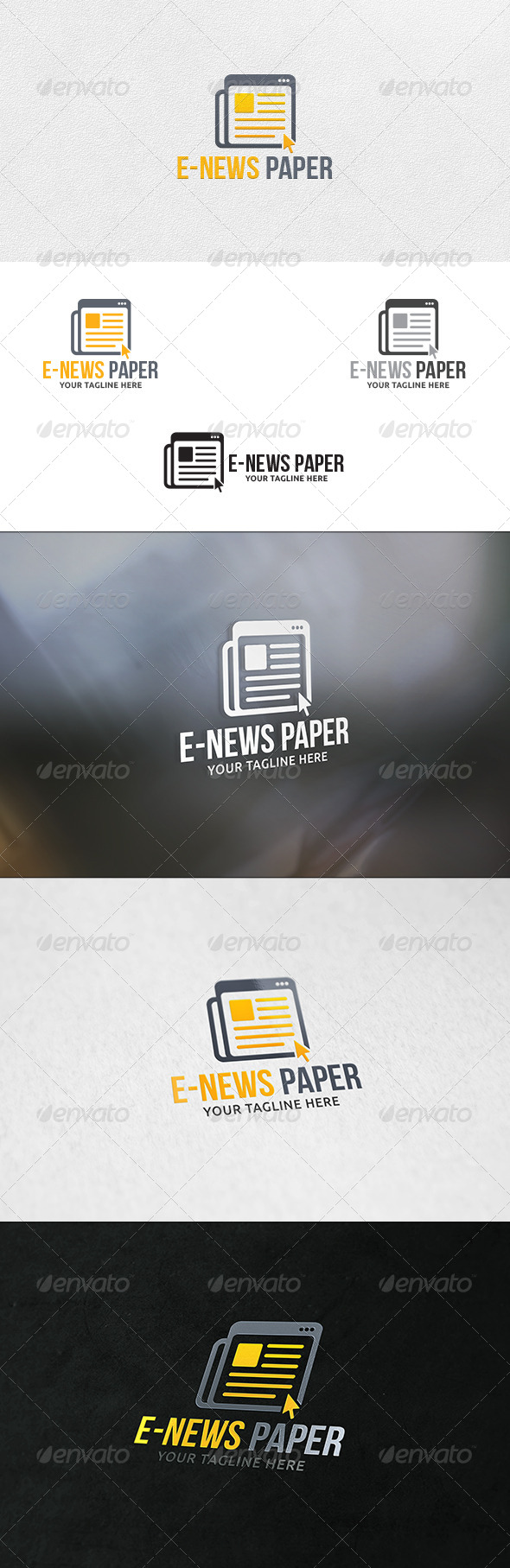 GraphicRiver E-News Paper Logo Template 6709810