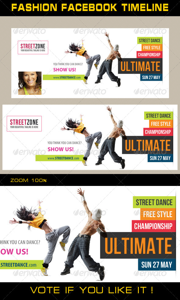 GraphicRiver Dance Facebook Timeline 01 6709860