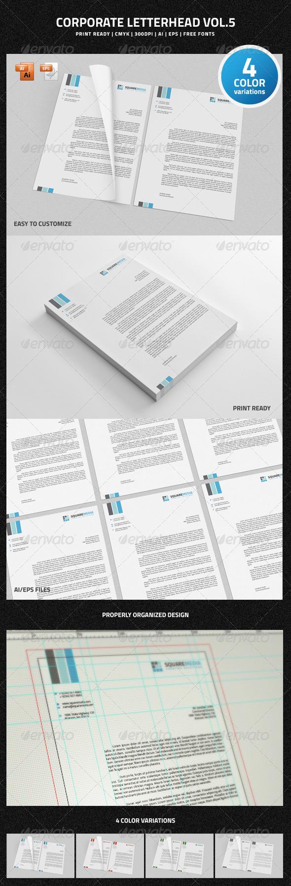 GraphicRiver Corporate Letterhead vol.5 6710064