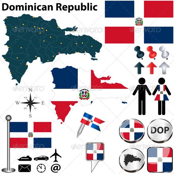 GraphicRiver Map of Dominican Republic 6710253