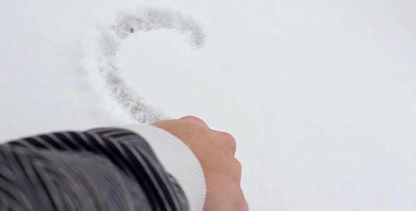 Drawing a Heart on Snow