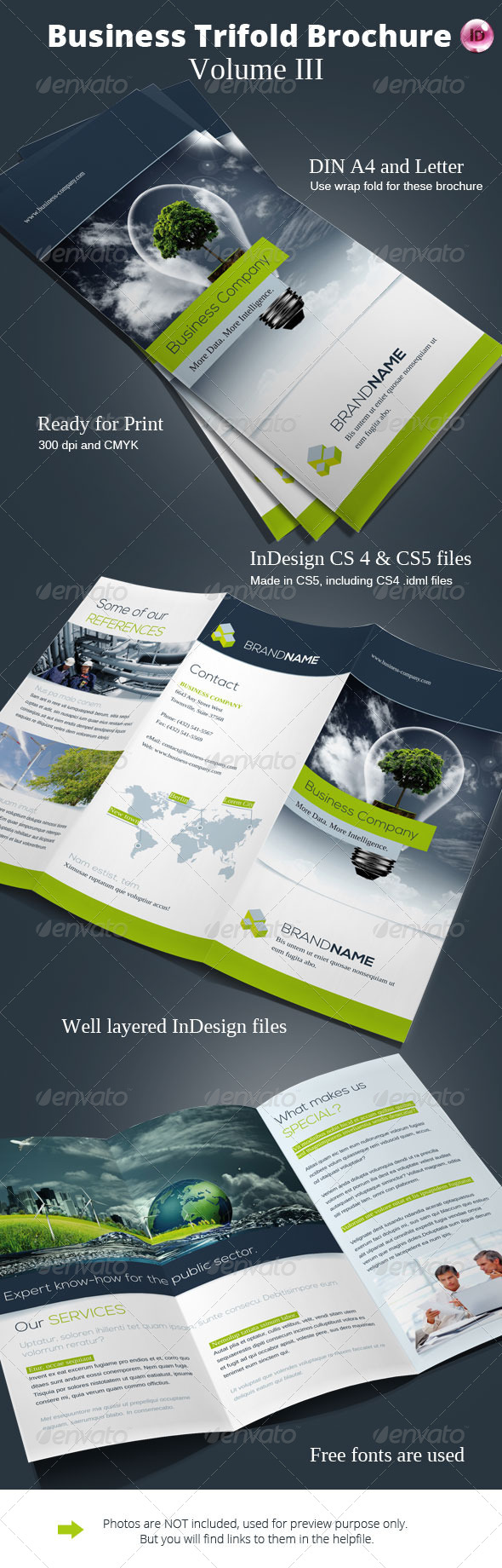 GraphicRiver Business Trifold Brochure Vol III 6710972