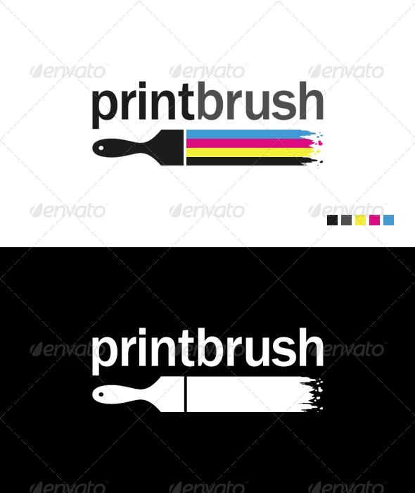 GraphicRiver Print Brush Logo Template 703142